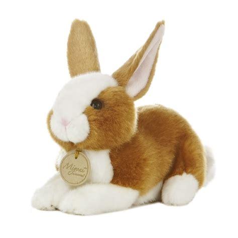 realistic stuffed realistic stuffed brown bunny 8 inch plush animal by