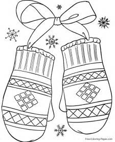 winter coloring pictures winter coloring pages winter mittens 12