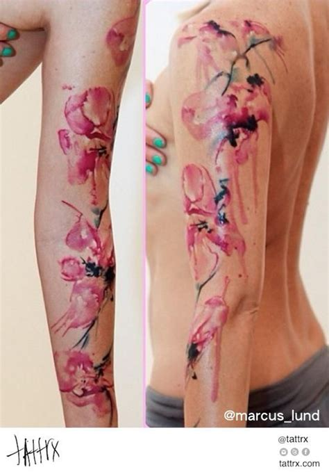 watercolor tattoo ybor watercolor flower sleeve search tattoos