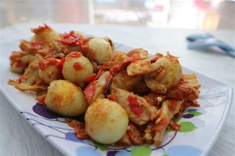resep jamur tiram telur puyuh balado food atnitalanaf