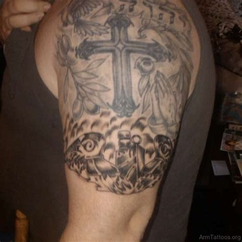 quarter sleeve tattoo wrist 59 cool cross tattoos on arm