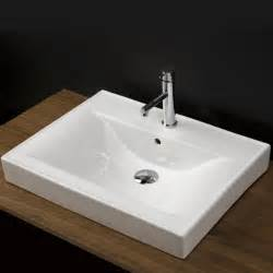 lacava 5475 porcelain vanity top with an overflow