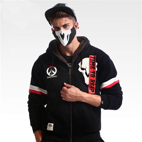Zipper Hoodie Overwatch Brothersapparel 2 winter overwatch reaper hoodies zip black sweatshirt for mens wishining