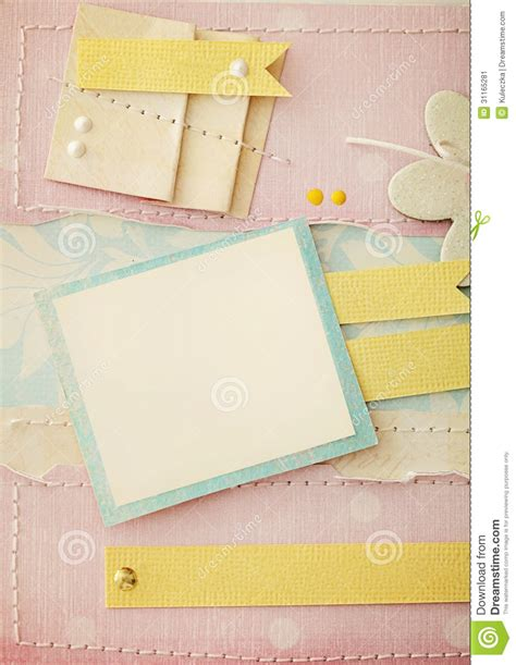 How To Make Photo Album With Paper - scrapbook background stock image image 31165281