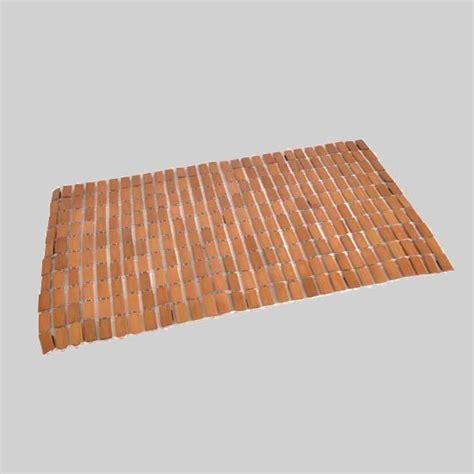 tappeto bagno legno bamb 249 tappeto bagno eminza