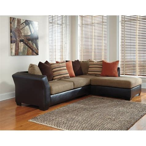 ashley mocha sectional ashley armant right chaise sectional in mocha 20202 66