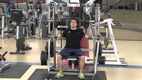 seated chest press vs bench press hammer strength seated chest press tutorial youtube