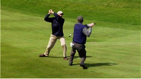 funny golf swing video who says golfers aren t athletes 12 pics