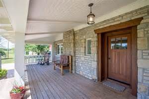 craftsman front door with exterior stone floors amp glass