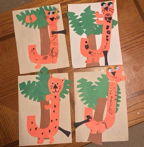 5 Letter Words Jungle j is for jumping jaguars in the jungle great letter craft
