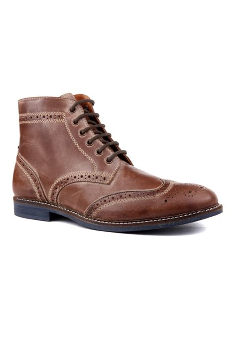 brown leather casual shoes rts7552