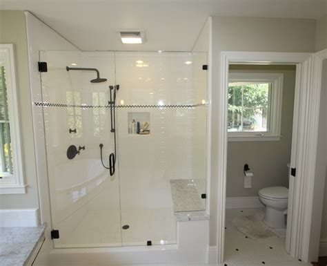 enclosed shower enclosed toilet room