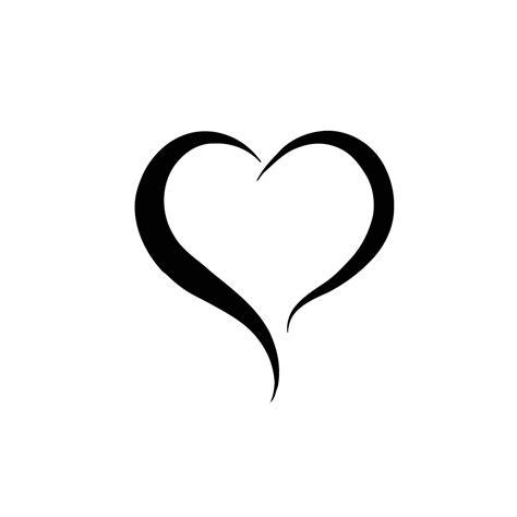 heart line tattoo two lines vinyl wall black medium products