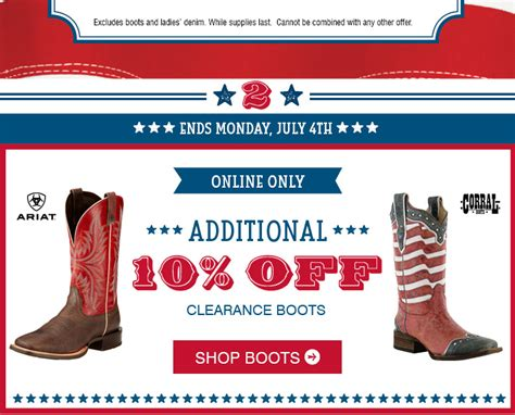 Boot Barn E Gift Card - limited boot barn coupons for you 4th of july blowout sale clearance bogo