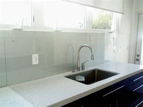 Painted glass backsplash   Artistry In Glass