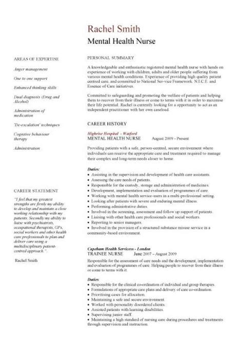 Curriculum Vitae For Nurses by Pics Photos Sample Nurse Cv