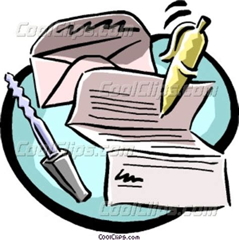 business letter clipart letter writing equipment vector clip