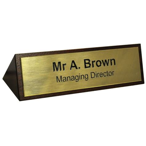 wooden name signs for desk mahogany desk sign with engraved brass desk signs