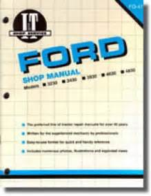 ford new 3230 3430 3930 4630 and 4830 tractor workshop manual