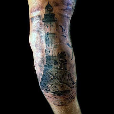 tattoo inspiration elbow 100 lighthouse tattoo designs for men a beacon of ideas