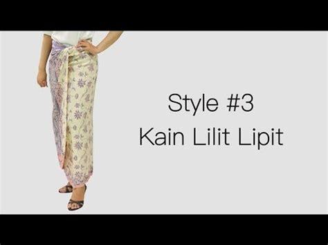 Cara Pakai Rok Lilit cara pakai rok batik lilit simple dan elegan part ii doovi