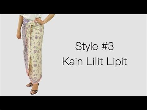 youtube tutorial kain lilit cara memakai kain lilit lipit video tutorial youtube