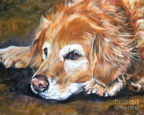 golden retriever paintings golden retriever senior by shepard