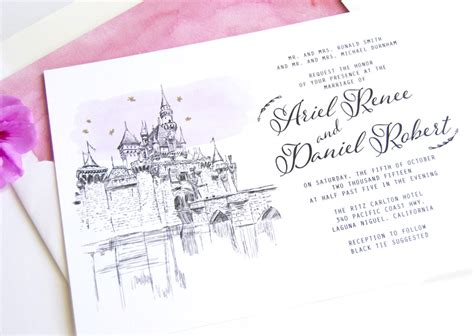 sending wedding invitations to disneyland disneyland skyline wedding invitations