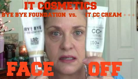 bye bye foundation light it cosmetics bye bye foundation vs it cosmetics cc cream