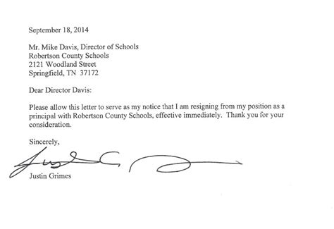 Resignation Letter Sle To Pursue Studies Springfield High Principal Resigns After Allegations Of Sexual Harassment