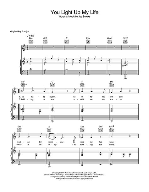 you light up sheet by westlife piano vocal