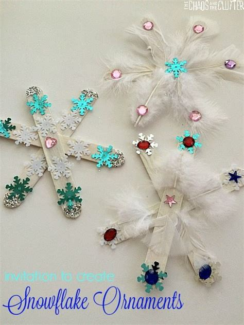 invitation to create a snowflake craft