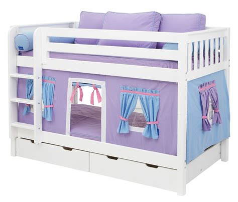 low bunk beds maxtrix purple light blue curtain for low loft and bunk bed