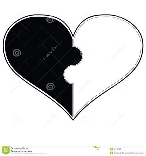 clipart bianco e nero cuore in bianco e nero 1 illustrazione di stock immagine