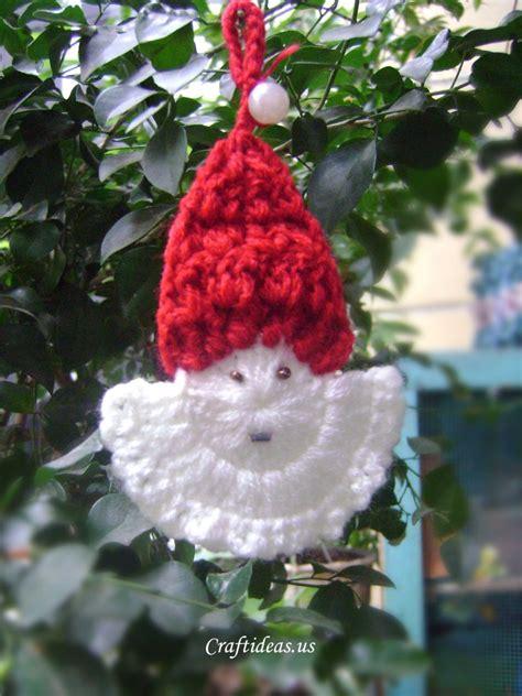 easy crochet christmas crafts crafts ideas crochet santa claus craft ideas