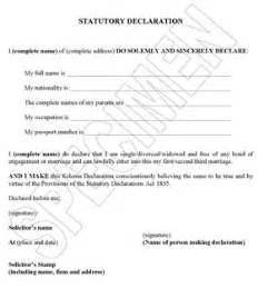 declaration document template translation legalisation for overseas weddings