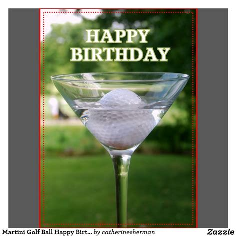 martini birthday card martini golf birthday card birthday