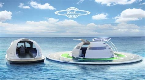 Italian Kitchen Designs by 187 Floating Futuristic House Future Technology