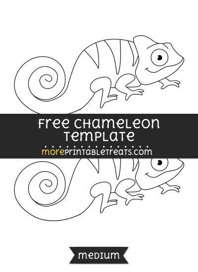 eric carle chameleon template free chameleon template medium shapes and templates