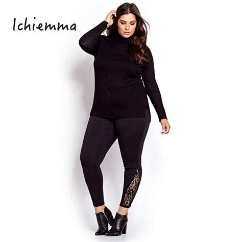 mid lace bkk bigsize fit xxxl ichiemma 2017 plus size solid black mid