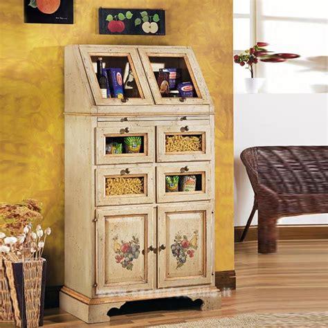 dispensa di collazione dispensa laccato avorio profili ocra mobili casa idea stile