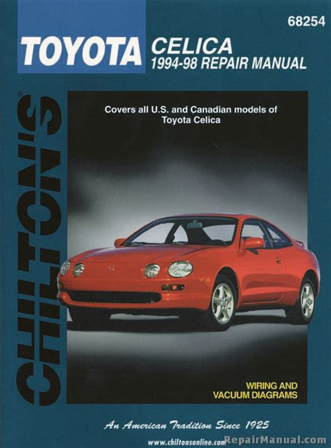 how to download repair manuals 1976 toyota celica lane departure warning chilton toyota celica 1994 1998 repair manual ch68254 ebay