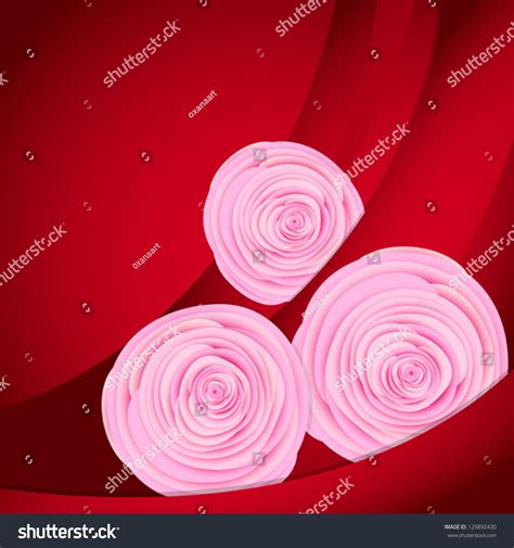 Vector Backgrounds With Roses For Invitations vector background realistic roses flowers can stock vector