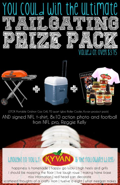 Tailgate Giveaway Ideas - tailgating prize pack giveaway with kyvan making home base
