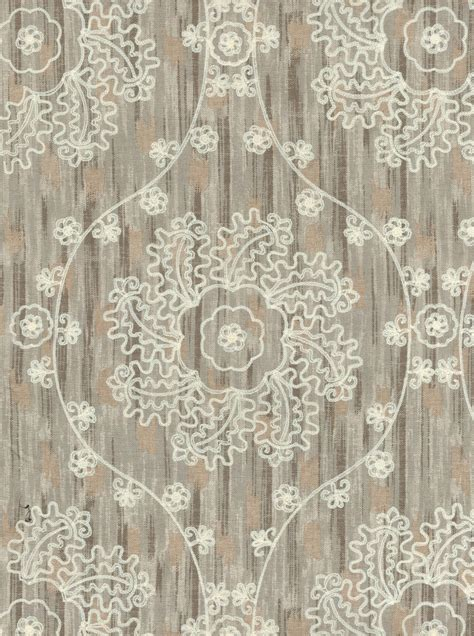 home decor print fabric iman mythical medallion pearl