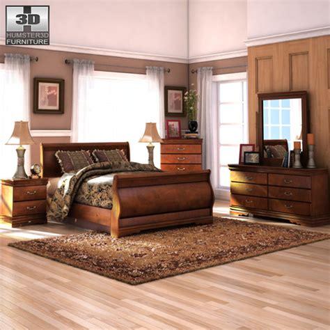 Wilmington Bedroom Set by 3d Model Wilmington Sleigh Bedroom Set Vr Ar