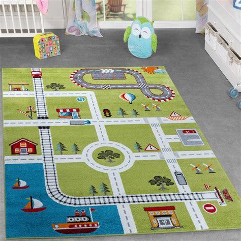 teppiche kinder kinderzimmer teppich mit design city hafen stadt stra 223 en