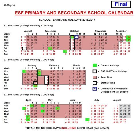 new year 2018 hk holidays schools foundation esf primary secondary school