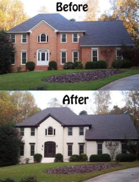exterior brick paint before and after before and after pictures of exterior painted brick