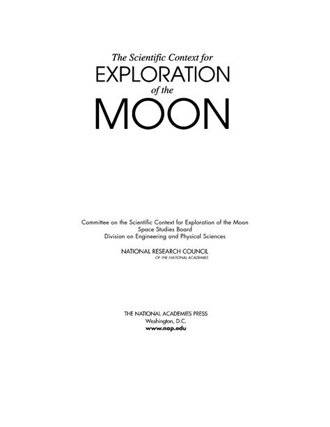 research paper titles exles the scientific context for exploration of the moon